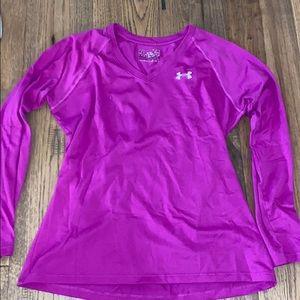 Purple Long Sleeved Under Armour Shirt